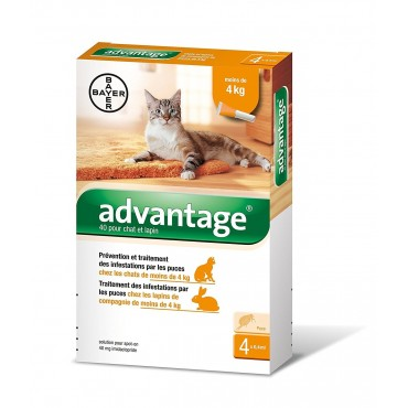 Advantage 40 chat moins de...